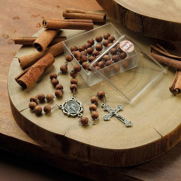 Terço Nossa Senhora das Graças Perfumado com Essência de Canela
