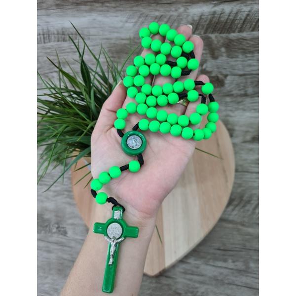 Terço Neon - São Bento Verde