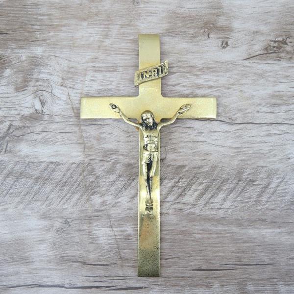 Crucifixo de Parede 12X22 Dourado