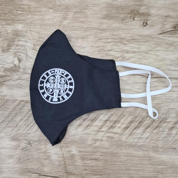 Máscara em Tecido - São Bento Preto