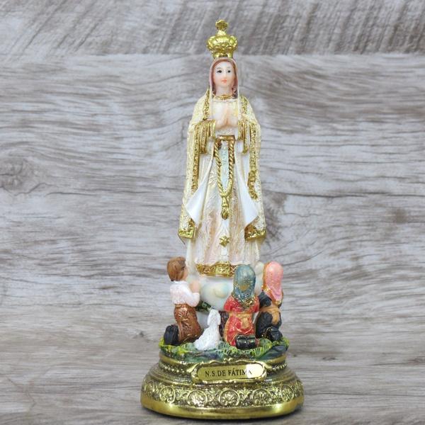 Imagem Resina - Nossa Senhora de Fátima 15 cm