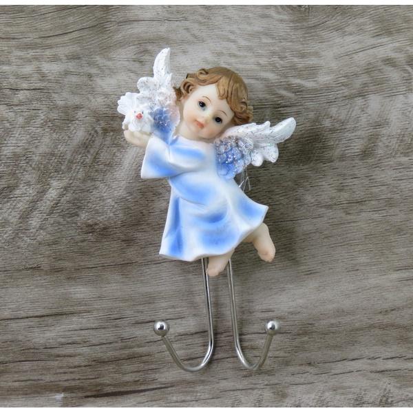 Anjinho com gancho em resina - 14 cm
