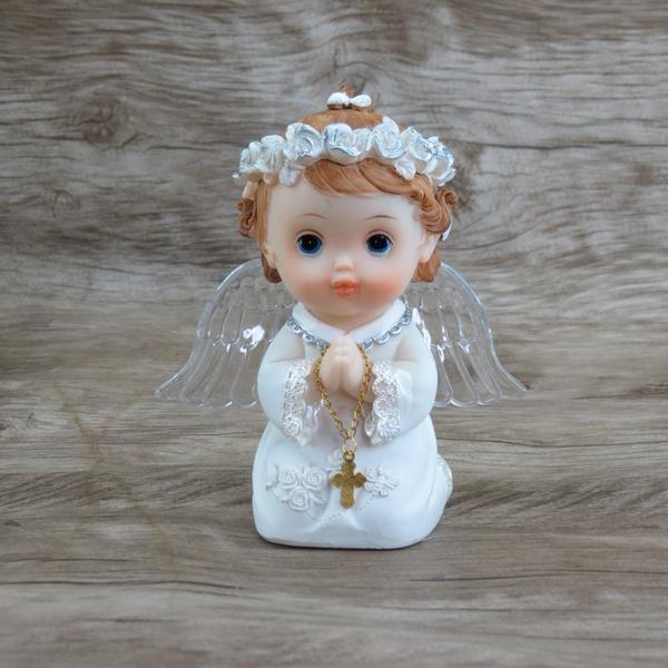 Anjinho com asa iluminada 12 cm - Branco