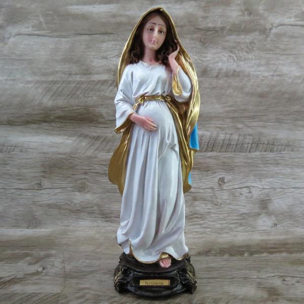 Imagem Resina - Nossa Senhora Grávida 30 cm