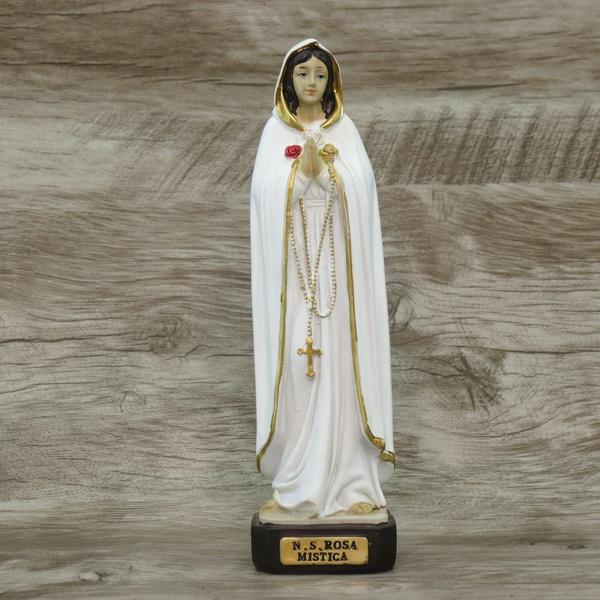 Imagem Resina - Nossa Senhora Rosa Mística 20 cm