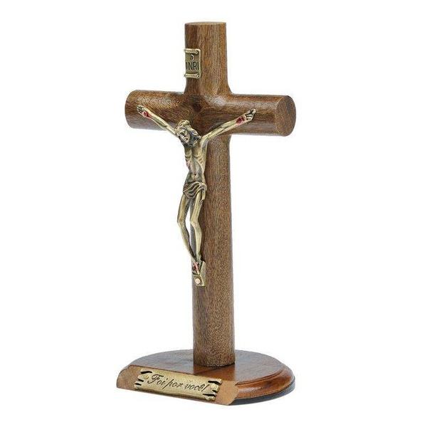 Crucifixo de Mesa Cilíndrica 17 cm- Foi por você
