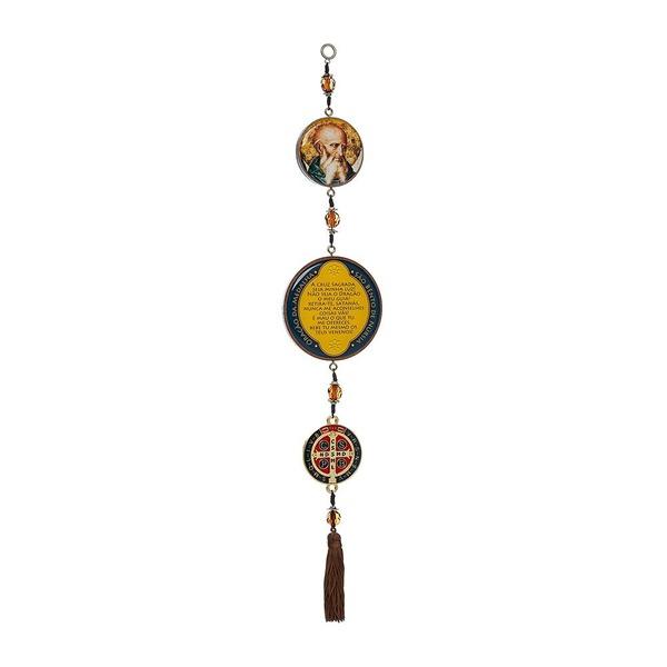 Adorno de Porta Medalha Dourada de São Bento