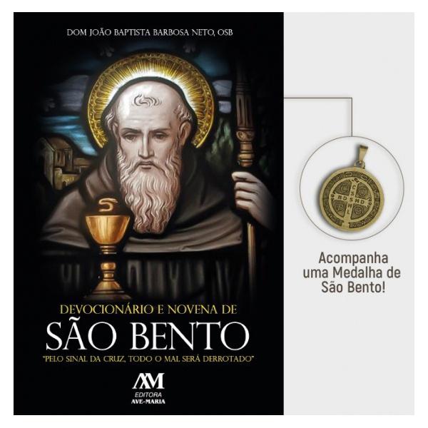 Devocionário e Novena de São Bento - Acompanha Medalha