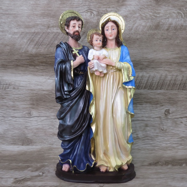 Imagem em resina - Sagrada Família 30 cm