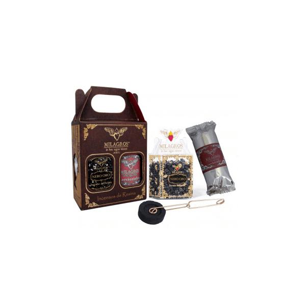 Mini Kit Incenso - Nero Oro - Milagros