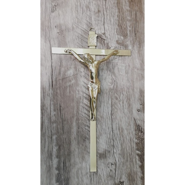 Crucifixo de Parede Estilizado -22x38 Dourado (ref 23- 24)