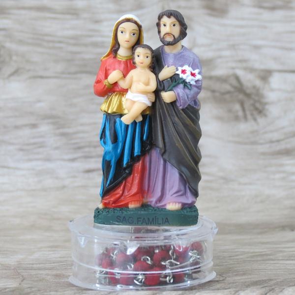 Imagem : Sagrada Família em Resina com terço perfumado 7.4 cm
