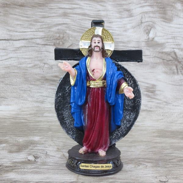 Imagem em Resina - Santas Chagas de Jesus 12 cm