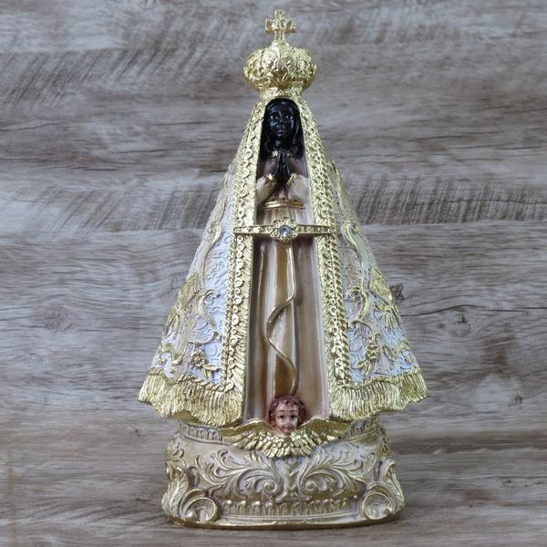 Imagem Resina - Nossa Senhora Aparecida 20 Dourada