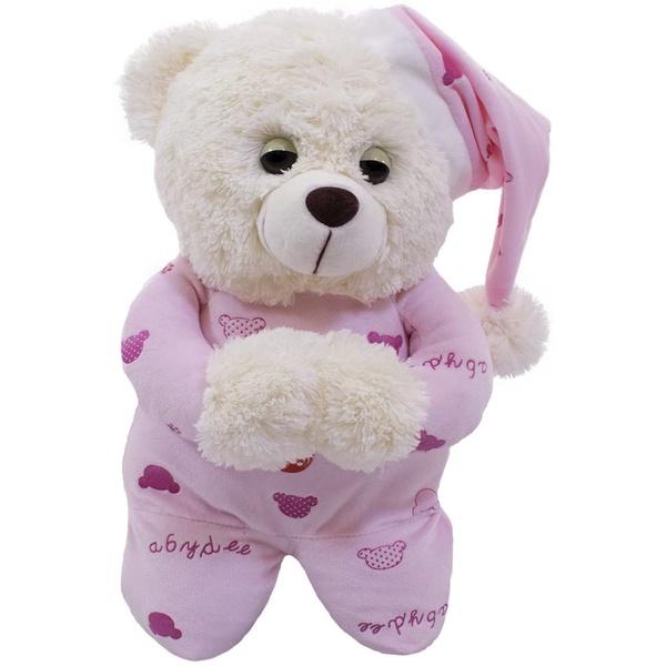 Urso Pelúcia - Reza Pai Nosso - Rosa Claro