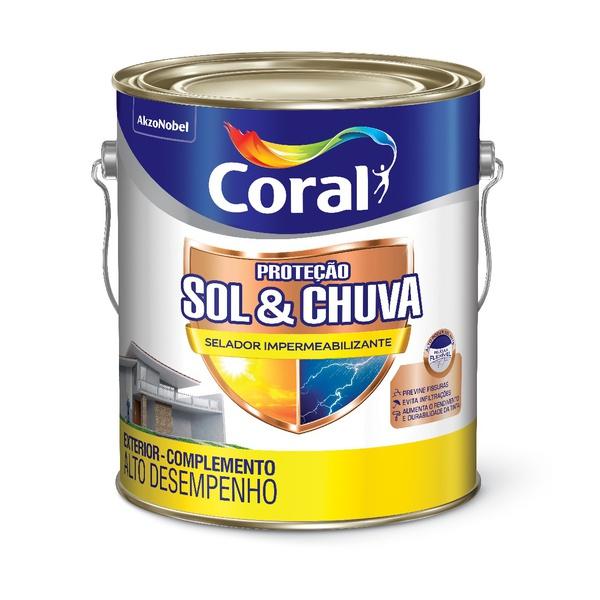 CORAL PROTECAO SOL & CHUVA FUNDO IMPERMEABILIZANTE 3,6L
