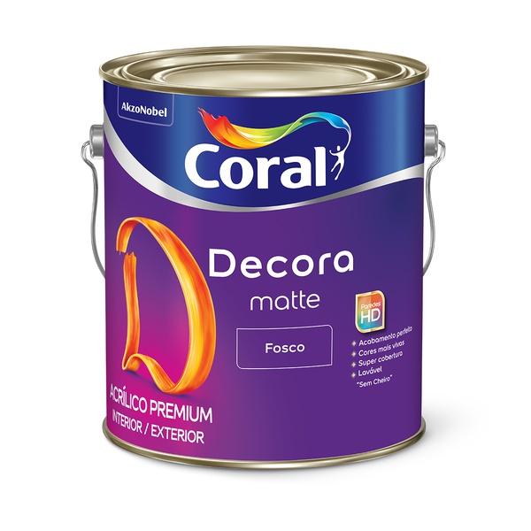 CORAL DECORA ACRILICO PREMIUM MATTE BRANCO 3,6L