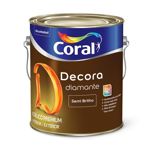 CORAL DECORA ACRILICO PREMIUM DIAMANTE BRANCO 3,6L