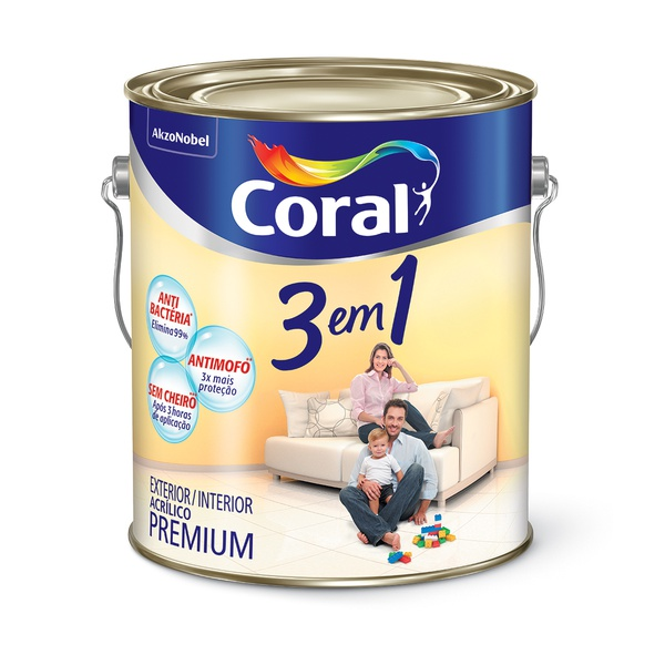 CORAL 3 EM 1 BRANCO 3,6L