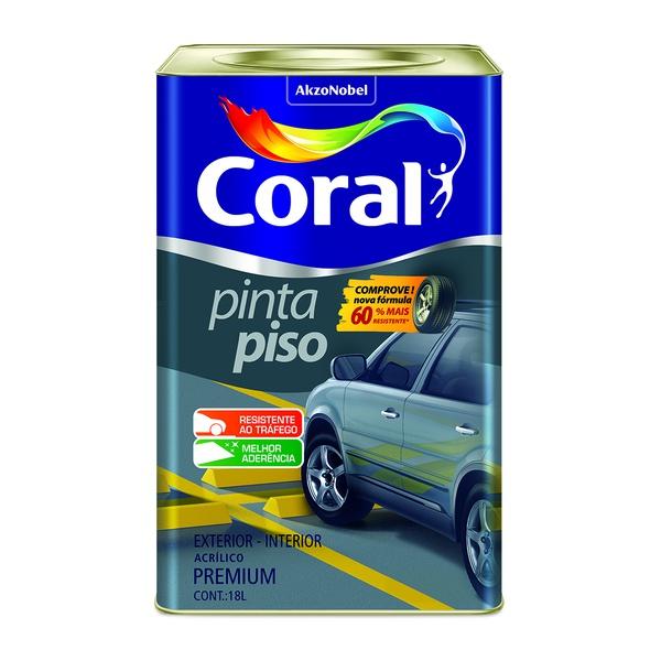 CORAL PINTA PISO CINZA ESCURO 18L