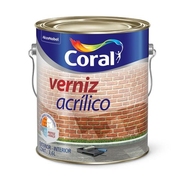 CORAL VERNIZ ACRILICO INCOLOR 3,6L