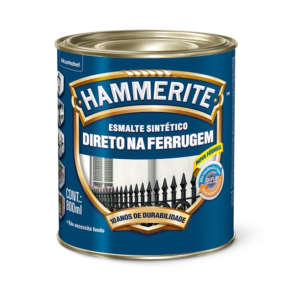 HAMMERITE BRILHANTE PRETO 0,800ML