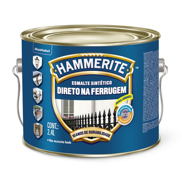 HAMMERITE PRATA BRILHANTE 2,4L