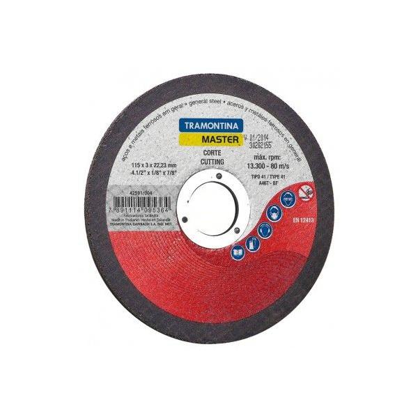 Disco De Corte Para Aço 4.1/2 Tramontina 42591/004