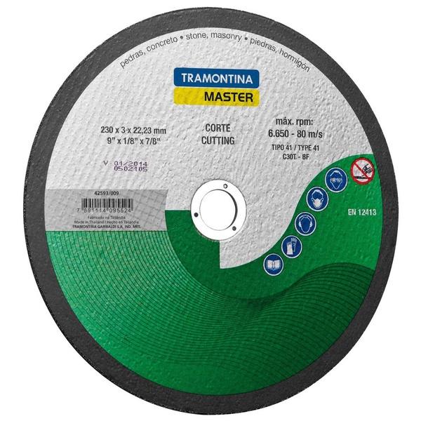 """Disco De Corte Refratário 9"""" Tramontina 42593/009"""