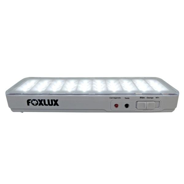 Luminária de Emergência Portátil Recarregável 30 Leds Bivolt 17.16 FOXLUX