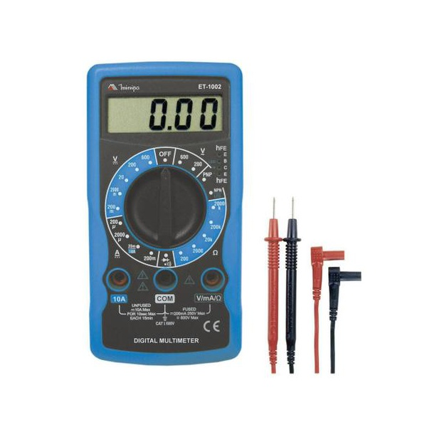 Multímetro Digital Hobby com Teste de Continuidade Minipa - ET1002