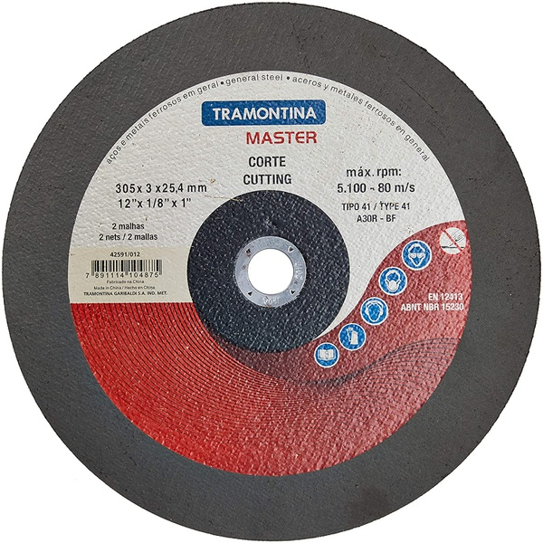 """Disco De Corte Para Aço 12"""" Tramontina 42591/012"""