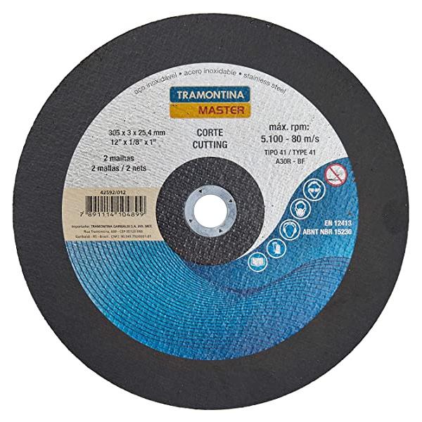 """Disco De Corte Para Aço 12"""" Tramontina 42592/012"""