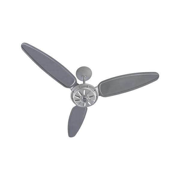 Ventilador de Teto Comercial 3 Pás Cinza Premium