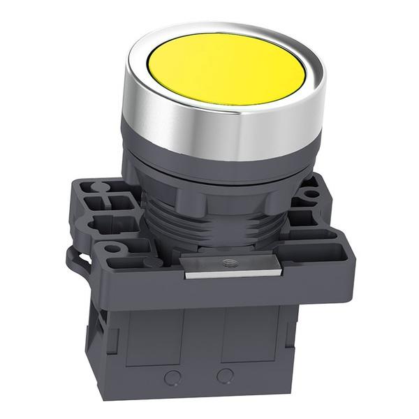 Botão 22mm Plástico Pulsador Amarelo 1NA XA2EA51 Schneider