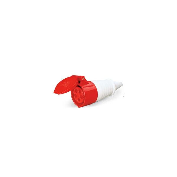 Acoplamento Lukma 3P+T+N 32A 380-415V 6H Vermelho