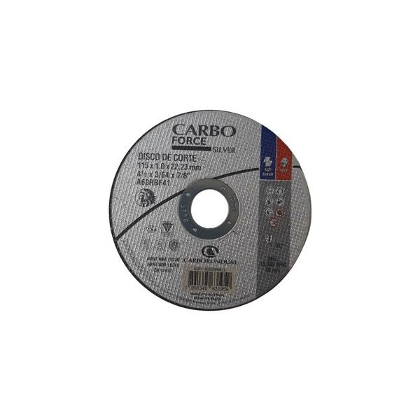 Disco de Corte Carbo Force Silver 115 x 1,0 x 22,23 mm