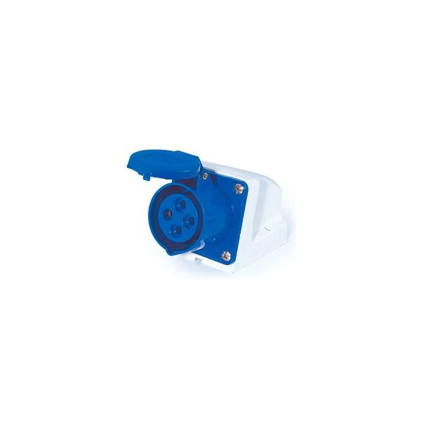 Tomada Sobrepor Lukma 3P+T 16A 220-240V 9H Azul