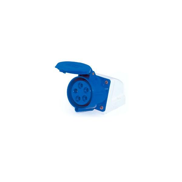 Tomada Sobrepor Lukma 3P+T+N 16A 220-240V 9H Azul
