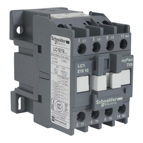 Contator Tripolar LC1-E1810 220V 1NO Schneider