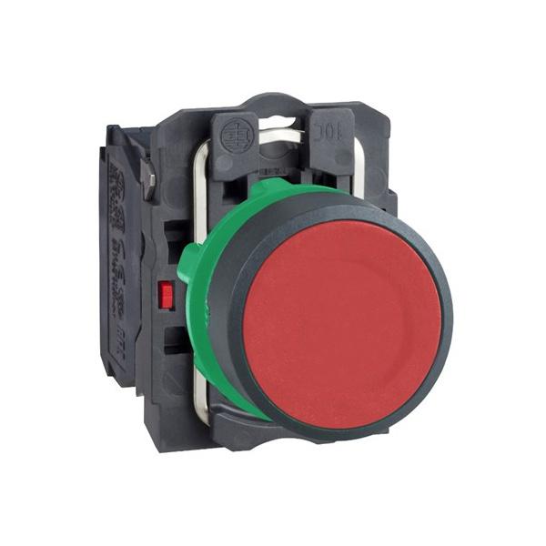Botão 22mm Plástico Pulsador Vermelho 1NA XB5AA42 Schneider