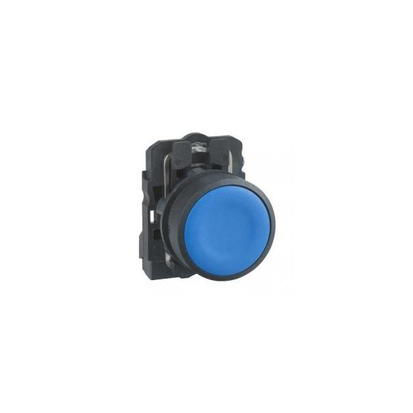 Botão 22mm Plástico Pulsador Azul 1NA XB5AA61 Schneider