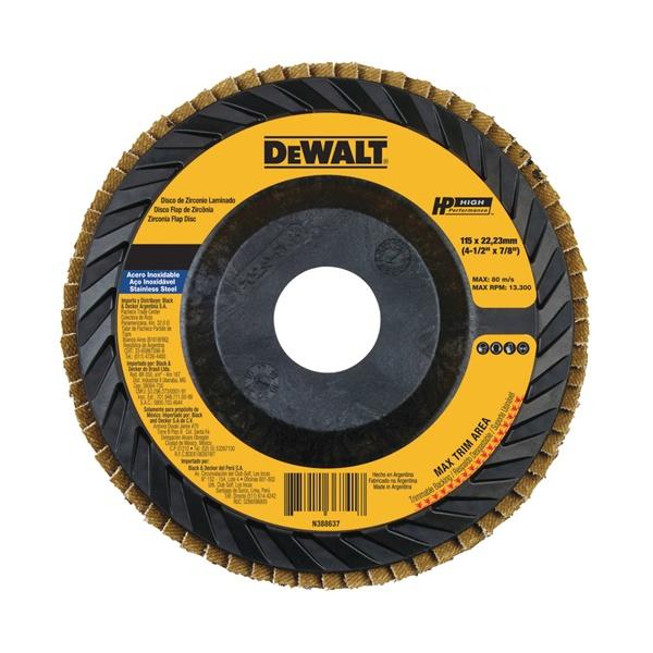 "Disco Flap Plástico Reto Dewalt 7"" DW832"