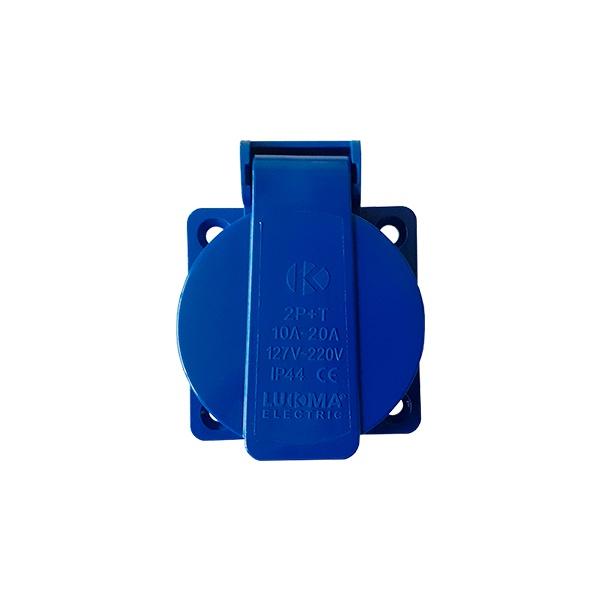 Tomada Embutir Lukma 2P+T 20A 127-240V 12H Azul