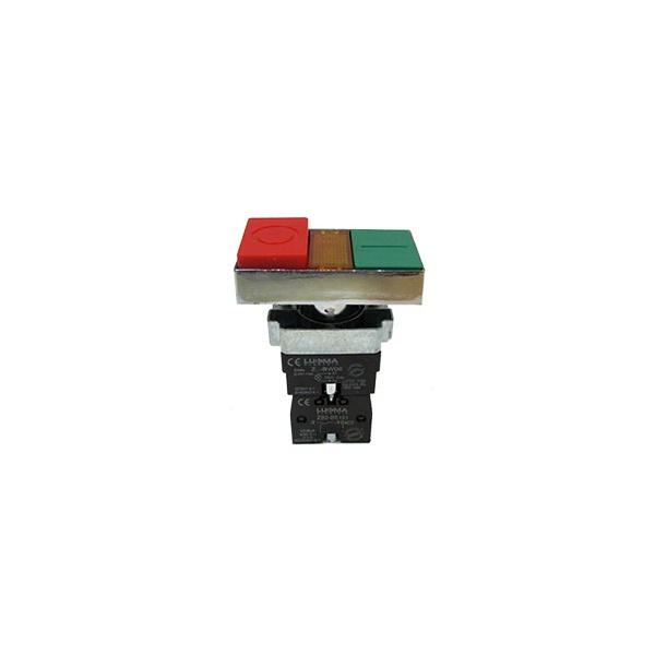 Botão Duplo Metal Ilum. LK2-BW8465 1Na+1Nf Lukma