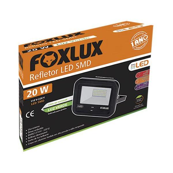 Refletor Led 20w Verde Foxlux 6500k Biv 38.30