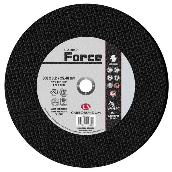 Disco de Corte Carbo Force 300 x 3,2 x 25,40 MM