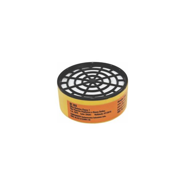 Cartucho com Filtro RC 203 para Máscaras Respirador Semifacial CG 306 - CARBOGRAFITE