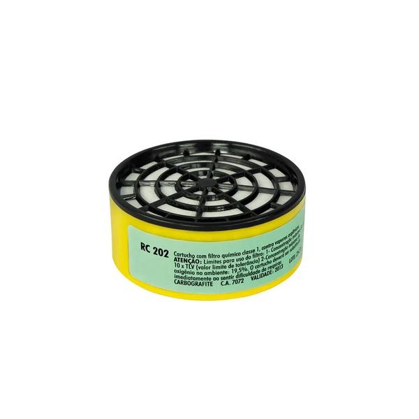 Cartucho com Filtro RC 202 para Máscaras Respirador Semifacial CG 306 - CARBOGRAFITE