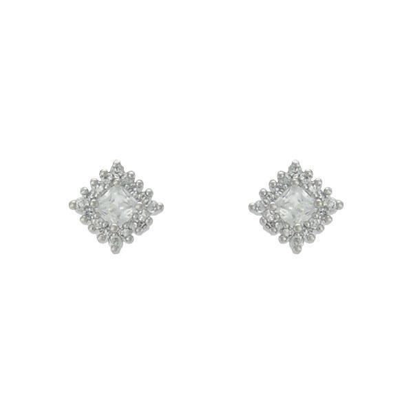 Brinco Zircônia Lesprit 65008 Ródio Cristal